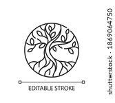 life tree linear icon. metaphor ... | Shutterstock .eps vector #1869064750