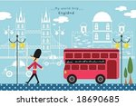 happy travel   guarding young... | Shutterstock .eps vector #18690685