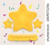 congratulations you won stars. ...   Shutterstock .eps vector #1869072256
