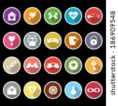 love and heart icons with long... | Shutterstock .eps vector #186909548