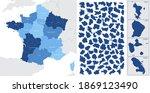 detailed  vector  blue map of...   Shutterstock .eps vector #1869123490