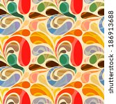 retro seamless abstract floral...   Shutterstock .eps vector #186913688
