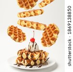 Belgian Liege Waffles With Ice...