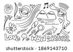 hand drawn set elements  black... | Shutterstock .eps vector #1869143710