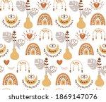 boho botanical pattern. modern...   Shutterstock .eps vector #1869147076