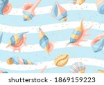 Seamless Pattern With Seashells....