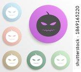 helovin pumpkin badge color set....