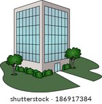 office building | Shutterstock .eps vector #186917384