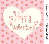 valentine card | Shutterstock . vector #186917990