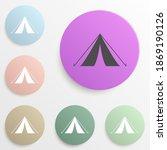 tent badge color set. simple...