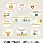 how to support small business... | Shutterstock .eps vector #1869190309