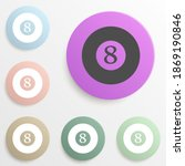 billiard ball badge color set....