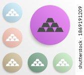 gold bars badge color set....