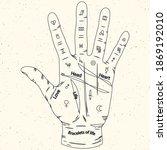 palmistry read design. vector...   Shutterstock .eps vector #1869192010