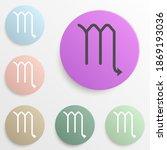 zodiac scorpion mars badge...