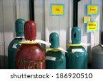 Nitrogen bottles - stock photo