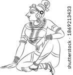 lord's gopika  sevika  or lady...   Shutterstock .eps vector #1869213433