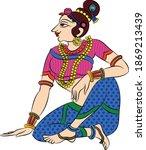 lord's gopika  sevika  or lady...   Shutterstock .eps vector #1869213439