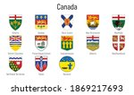 set coat of arms of the... | Shutterstock .eps vector #1869217693