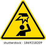 overhead obstacle warning sign... | Shutterstock .eps vector #1869218209