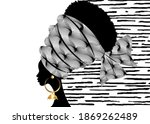 portrait beautiful african... | Shutterstock .eps vector #1869262489