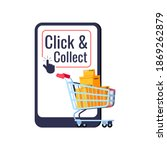 click and collect delivery... | Shutterstock .eps vector #1869262879