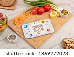 healthy tablet pc compostion... | Shutterstock . vector #1869272023