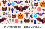 occultism set. seamless pattern ...   Shutterstock .eps vector #1869284680