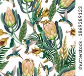 seamless pattern with... | Shutterstock .eps vector #1869289123