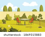 patio area. sunny back yard...   Shutterstock .eps vector #1869315883