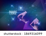 online shopping with banking... | Shutterstock . vector #1869316099