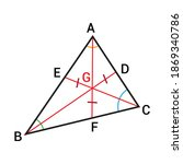 triangle angle bisector theorem ...   Shutterstock .eps vector #1869340786