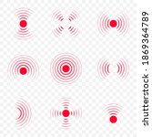 pain icon with point  red waves....   Shutterstock .eps vector #1869364789