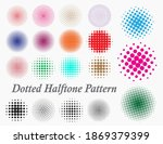 set of dotted halftone pattern ... | Shutterstock .eps vector #1869379399