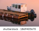 Traditional Wooden Boat At Dock ...