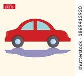vector illustration of a car in ... | Shutterstock .eps vector #1869413920