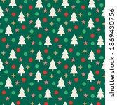 pine tree and geometric... | Shutterstock .eps vector #1869430756