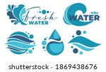 drops and waves  fresh water... | Shutterstock .eps vector #1869438676