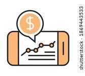 digital marketing smartphone... | Shutterstock .eps vector #1869443533