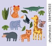 wild animals safari cute... | Shutterstock .eps vector #1869452833