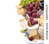 Assortment Cheeses Glass Red Wine - Fine Art prints