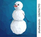 abstract vector snowman of... | Shutterstock .eps vector #186946793
