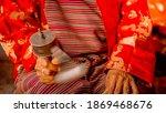 Rotation Buddhist Prayer Wheel...
