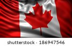 waving flag canada | Shutterstock . vector #186947546