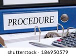 procedure | Shutterstock . vector #186950579