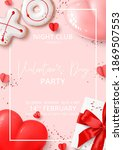 happy valentine's day party... | Shutterstock .eps vector #1869507553