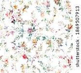abstract watercolor digital... | Shutterstock . vector #1869507913