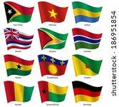 set  flags of world sovereign... | Shutterstock .eps vector #186951854