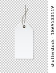 blank white paper price tag... | Shutterstock .eps vector #1869533119