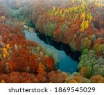 Unique lake in Hungary which name is Hubertlaki lake. It looks like Romanian killer lake but. Fantastic cinematic view in fall 2020. There are no other people due covid-19